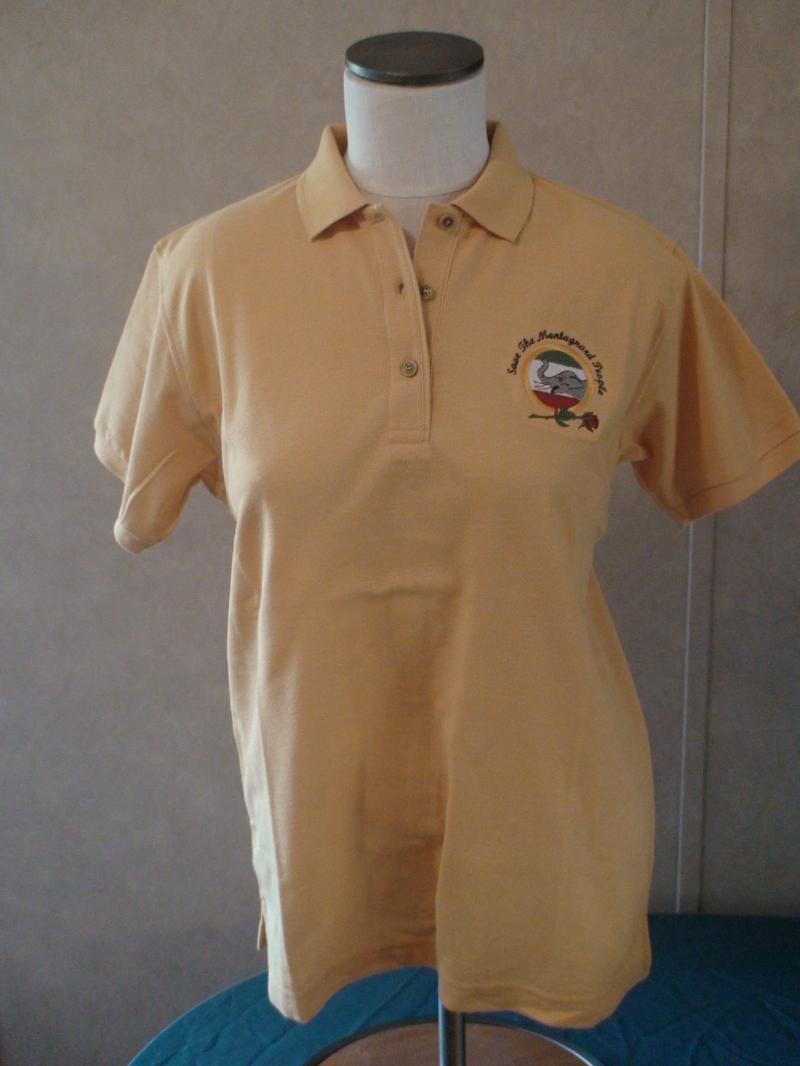 Polo Shirt Womens Yellow Large